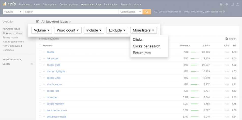Find and prioritize the best keywords using filters